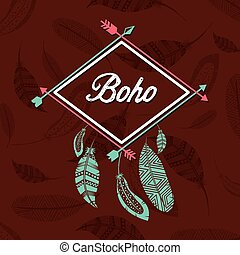 boho style design, vector illustration eps10 graphic