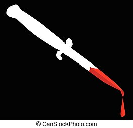 Flick Knife With Blood
