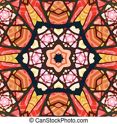 Abstract Background - Stained glass pattern Seamless...