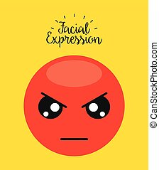 facial expression design, vector illustration eps10 graphic