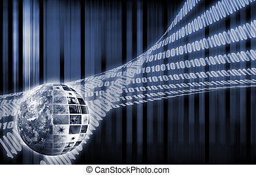 Futuristic Network - Futuristic Web Cyber Data Grid Color...