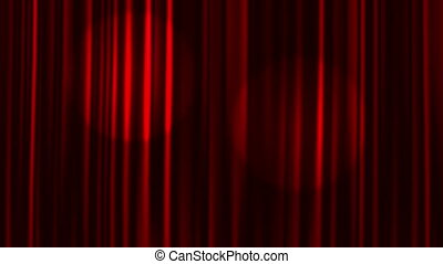 Curtains Open - Red Curtains Open with Spotlights plus Alpha...
