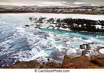 Gullfoss cascade - Beautiful view on the famous Gullfoss...