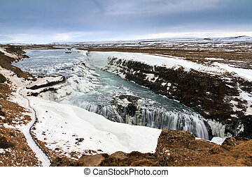 Gullfoss view - Beautiful view on the famous Gullfoss...