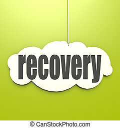 White cloud with recovery image with hi-res rendered artwork...