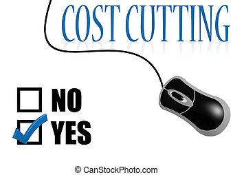 Cost cutting check mark