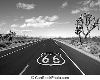Route 66 Mojave Desert - Route 66 crossing Californias...