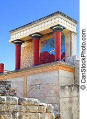a, Knossos, Palácio,