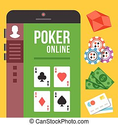 Online poker. Mobile poker room