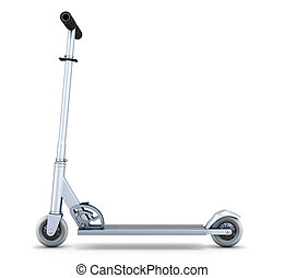 scooter side view - Scooter side view isolated on white...
