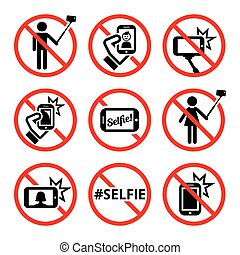 No selfies, no selfie sticks sign