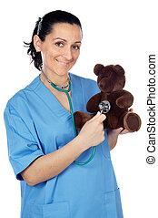 doctor with a teddy bear