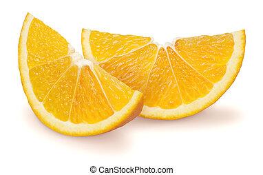 Two Slice of Oranges - Studio Shot of two slices of orange....