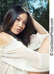 Beautiful Asian model