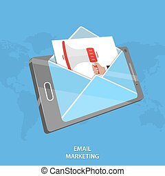 Email marketing vector conceptual illustration Letter image...