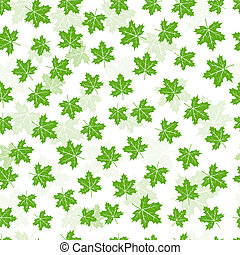 Seamless maple leaves pattern - Seamless green maple leaves...