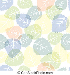 Seamless leaves pattern - Seamless colorful leaves pattern...