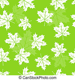 Seamless maple leaves pattern background