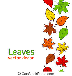 Seamless autumn leaves pattern - Seamless autumn colorful...