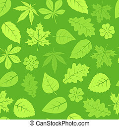 Seamless leaves pattern - Seamless green leaves pattern...