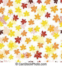 Seamless maple leaves pattern - Seamless autumn maple leaves...