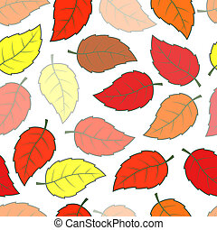Seamless leaves pattern - Seamless autumn leaves pattern...