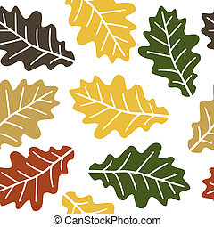 Seamless oak leaves pattern - Seamless autumn oak leaves...