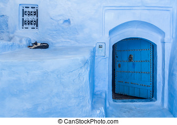 The blue gate - The blue medina of Chefchaouen, Morocco