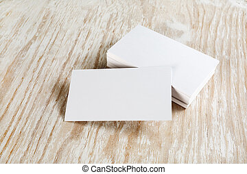 Photo business cards - Photo of blank business cards with...