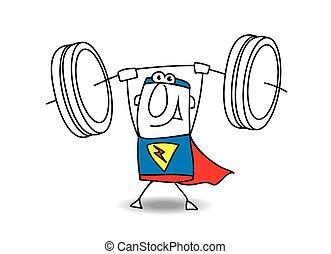 Superhero weight lifter