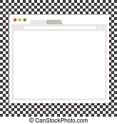 Opened browser window template