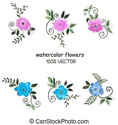 Background watercolor flowers - Background of watercolor...