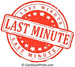 Red stamp - last minute