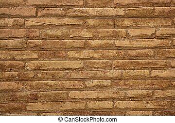 brun, brique, mur, crème, beige, couleur, fond