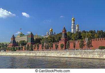 View of the Moscow Kremlin,Russia - View of the Moscow...