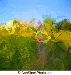 Polygons - Abstract background pattern with colorful...