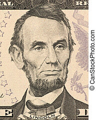Abraham Lincoln on 5 Dollars 2006 Banknote from U.S.A. 16th...