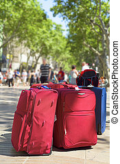 baggages at Las Ramblas in Barcelona, Spain - some baggages...