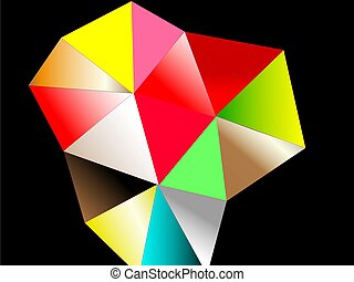 Background, geometric shape