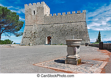 castle monforte in campobasso - front of castle Monforte in...