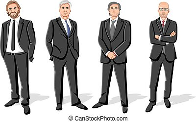 Group of four businessmen