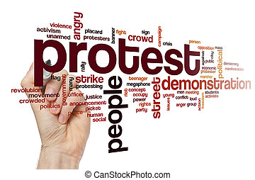 Protest word cloud concept - Protest word cloud