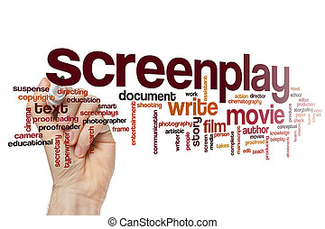 Screenplay word cloud concept