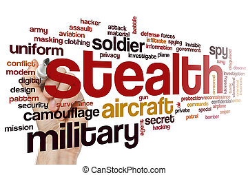 Stealth word cloud - Stealth concept word cloud background