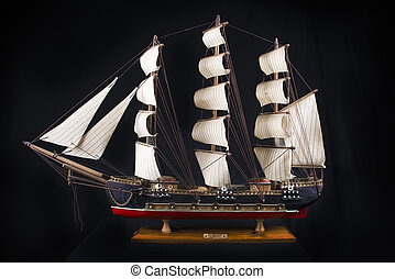 XVIII century frigate model - Highly detailed XVIII century...