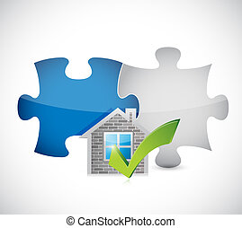 real estate home approve puzzle pieces