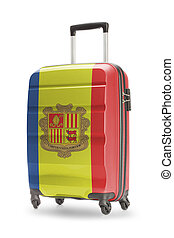 Suitcase with national flag on it - Andorra - Suitcase...
