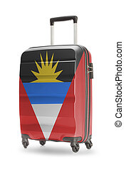 Suitcase with national flag on it - Antigua and Barbuda -...