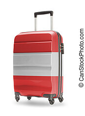 Suitcase with national flag on it - Austria - Suitcase...