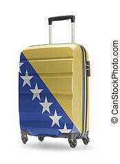 Suitcase with national flag on it - Bosnia and Herzegovina -...